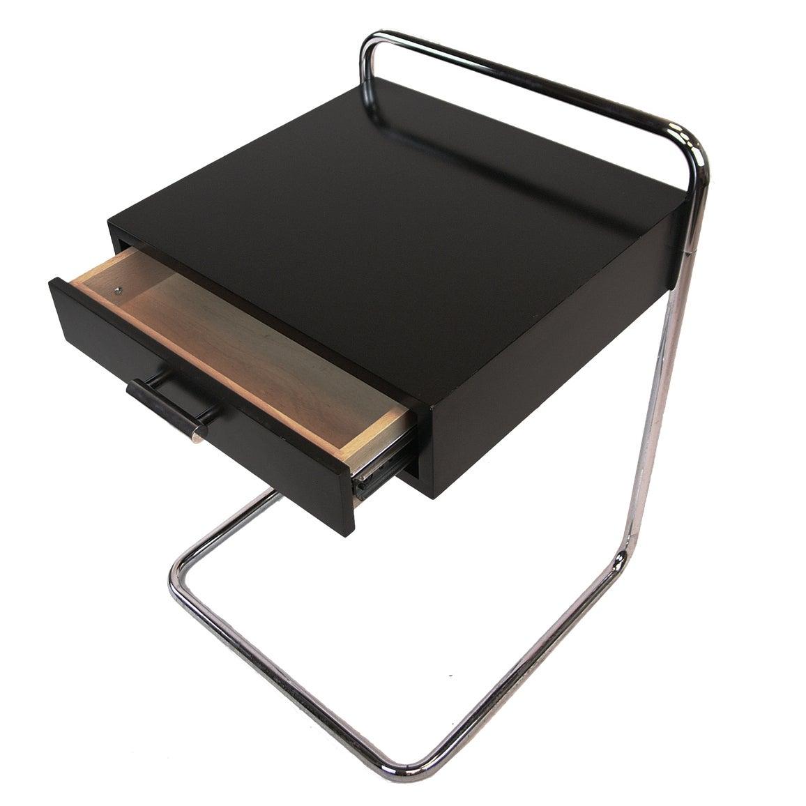 marcel breuer bauhaus single drawer end table night stand. Black Bedroom Furniture Sets. Home Design Ideas