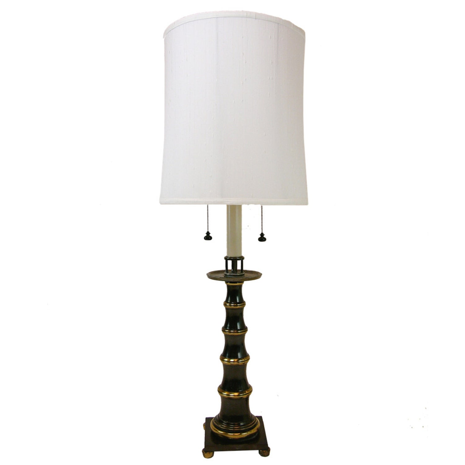 Grand Patinated Br Bamboo Stiffel Lamp