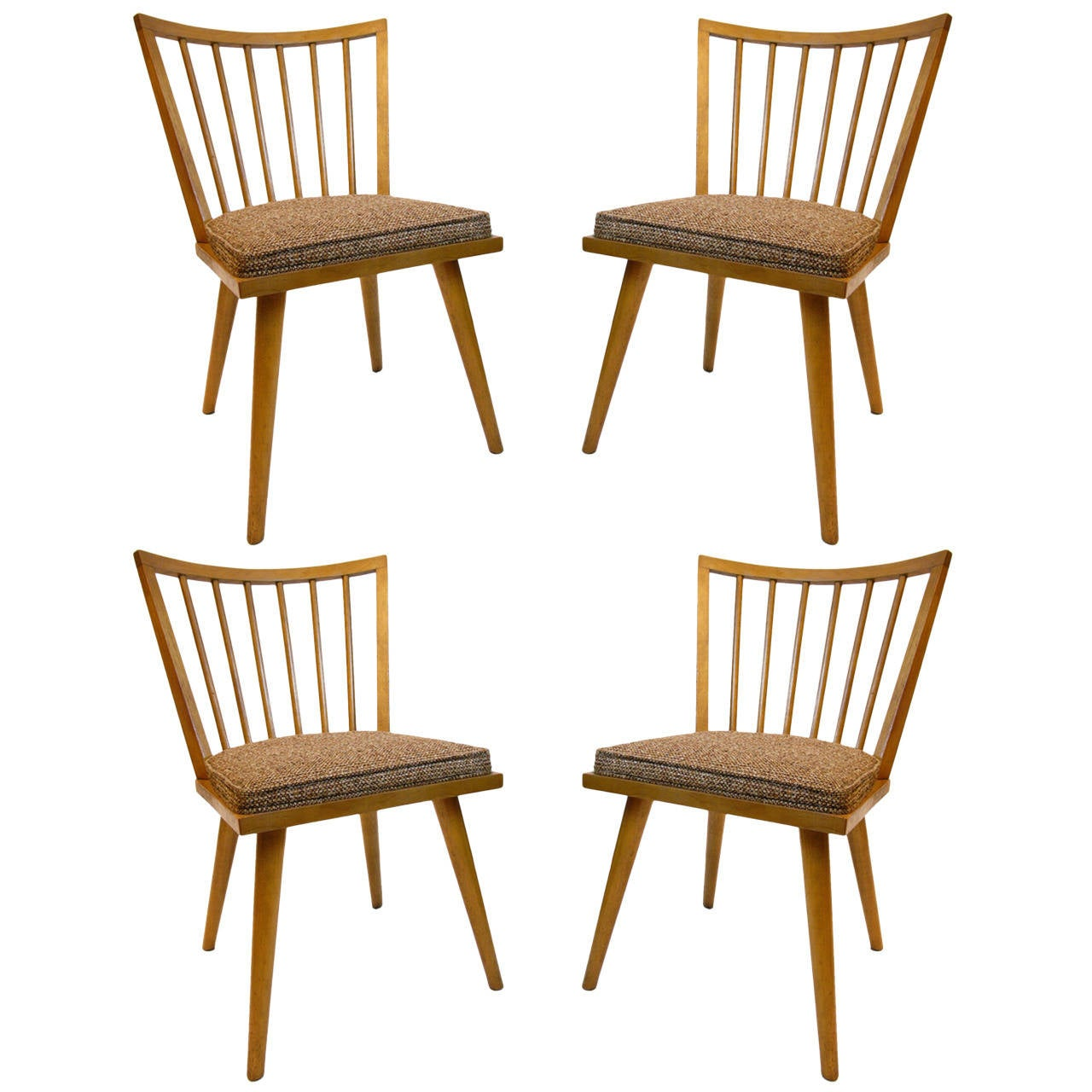 Set Of Four Russel Wright For Conant Ball Dining Chairs Sale