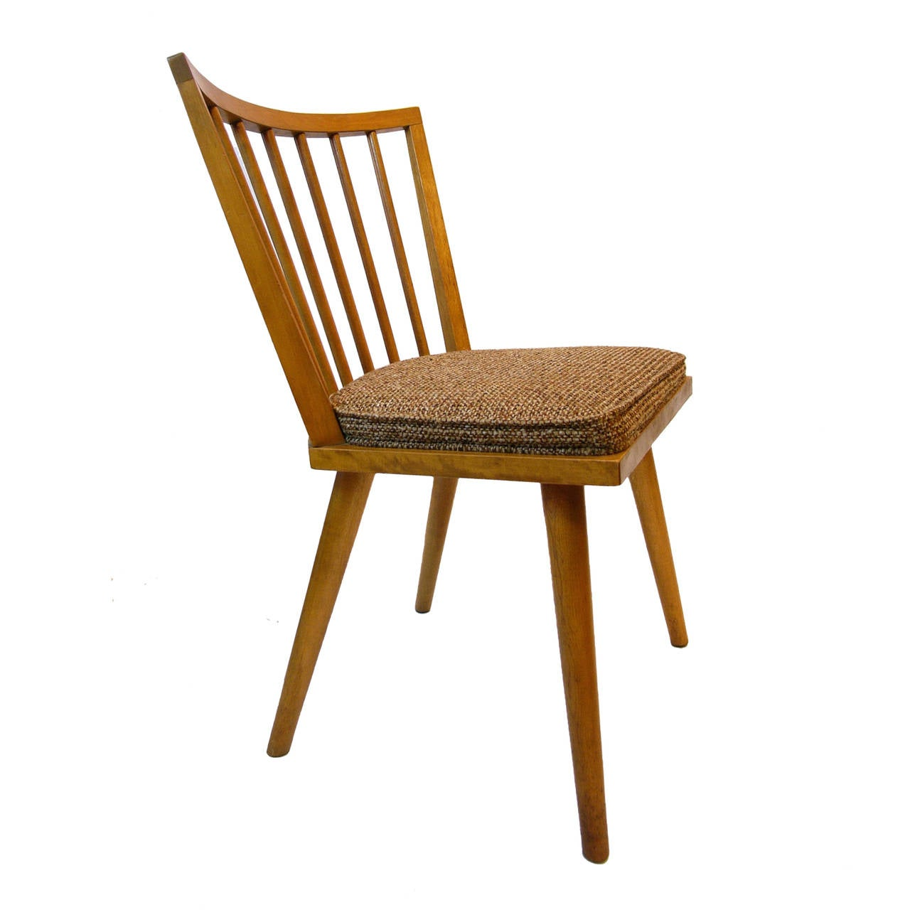 Set Of Four Russel Wright For Conant Ball Dining Chairs For Sale At 1stdibs