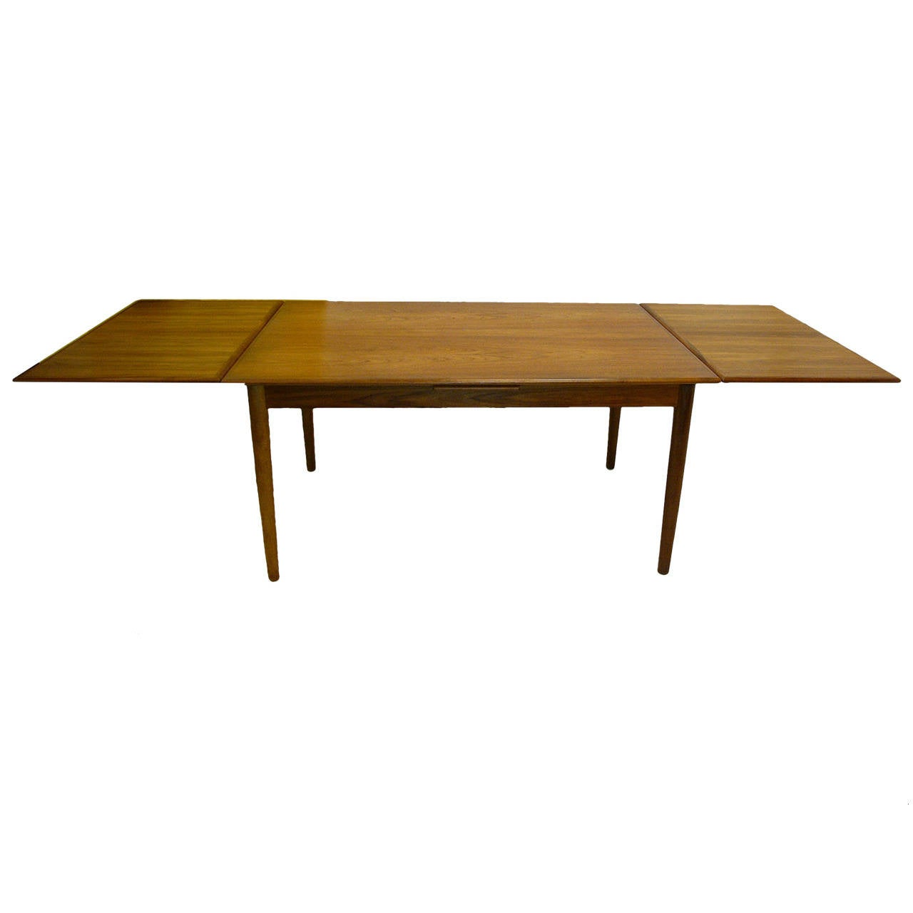 Danish teak extension dining table at 1stdibs for Dining room extension tables
