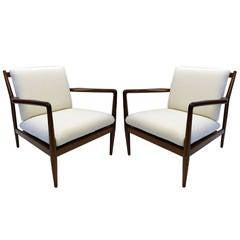 Rare Pair of Indian Rosewood Chairs from Peshawar, Pakistan by M. Hayat & Bros