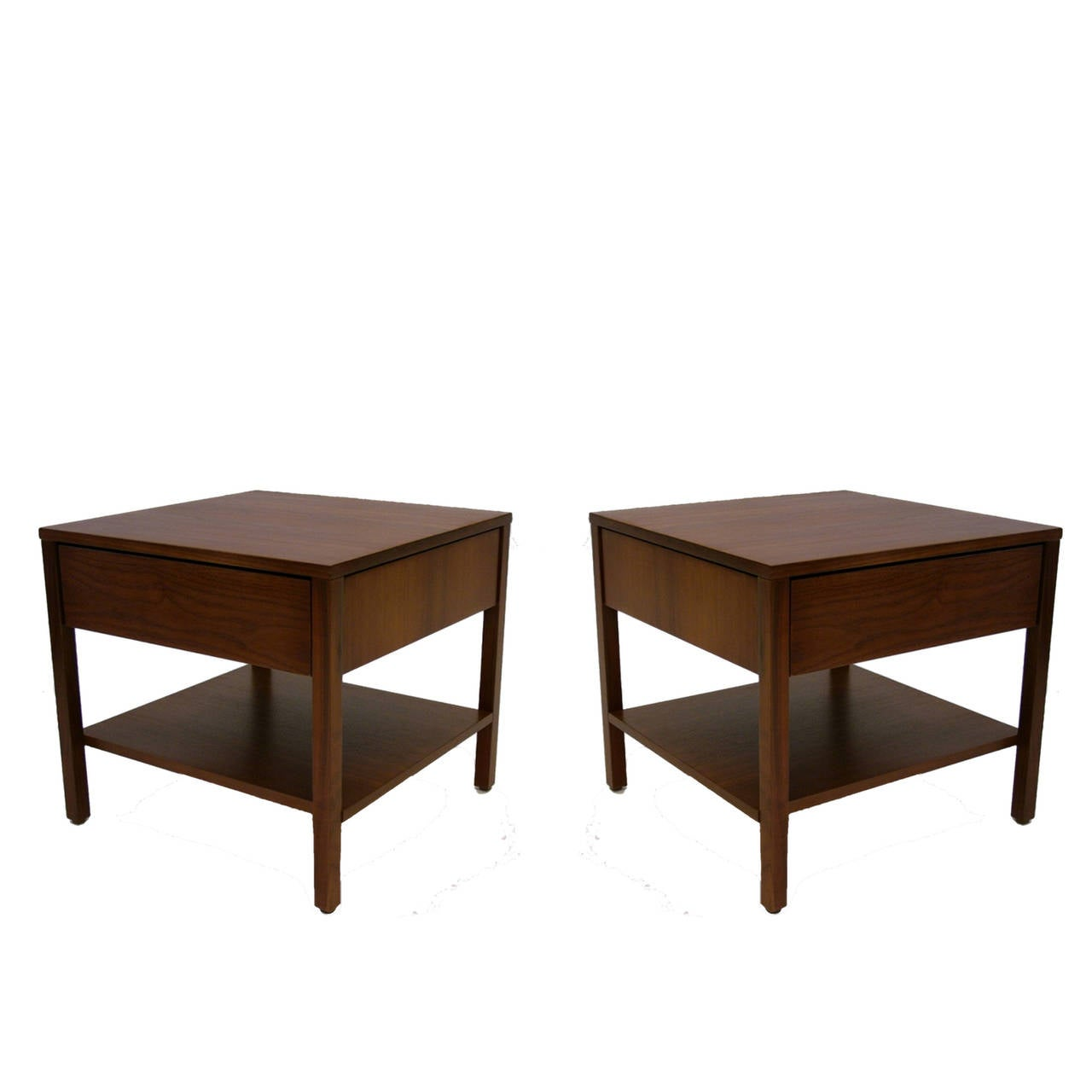 pair of danish rosewood wall mounted single drawer bedside tables