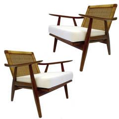 Pair of Hans Wegner GE 275 Teak Armchairs