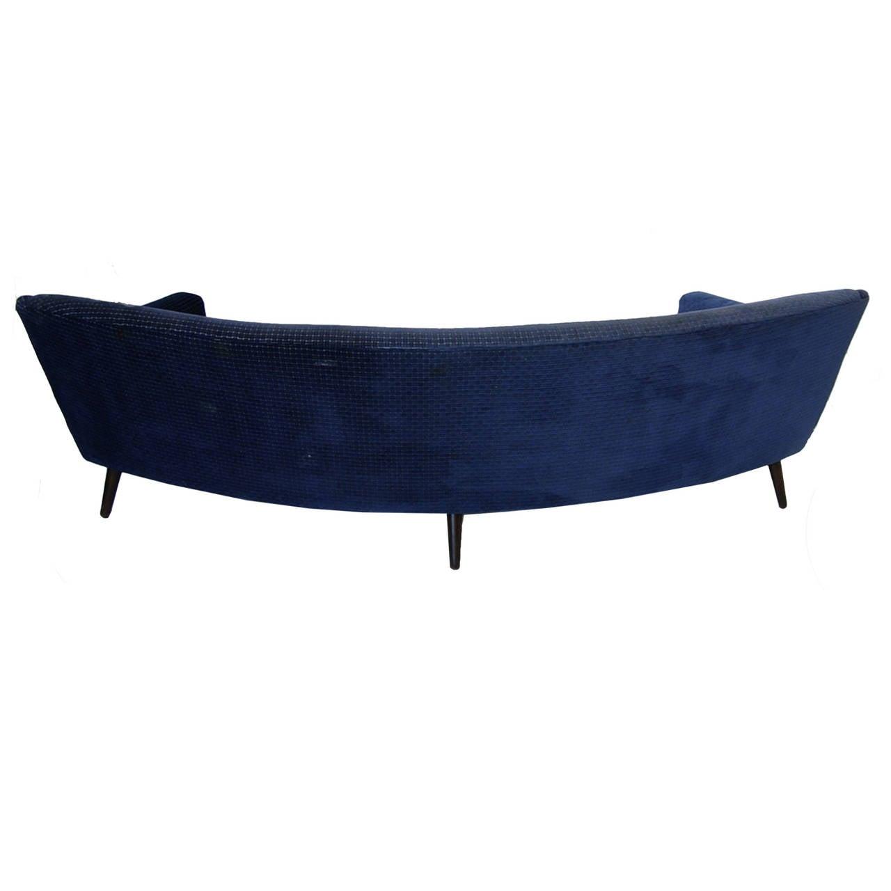 Scandinavian Modern Rare Kurt Ostervig for Henry Rolschau Mobler Curved Sofa For Sale
