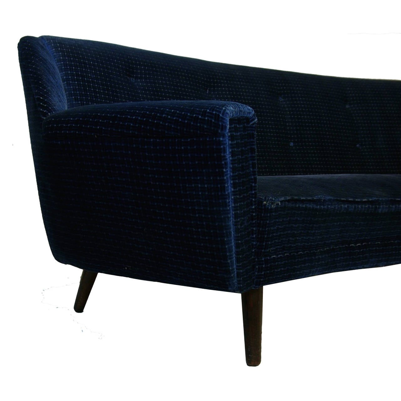 Rare Kurt Ostervig for Henry Rolschau Mobler Curved Sofa at 1stdibs