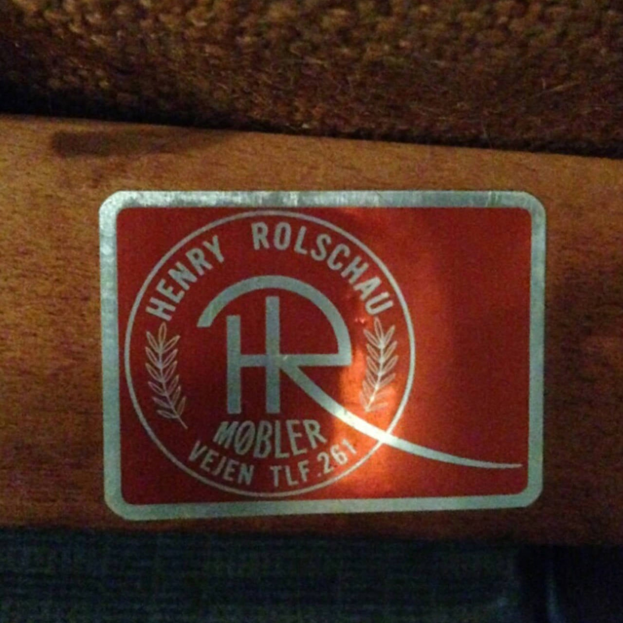 Upholstery Rare Kurt Ostervig for Henry Rolschau Mobler Curved Sofa For Sale