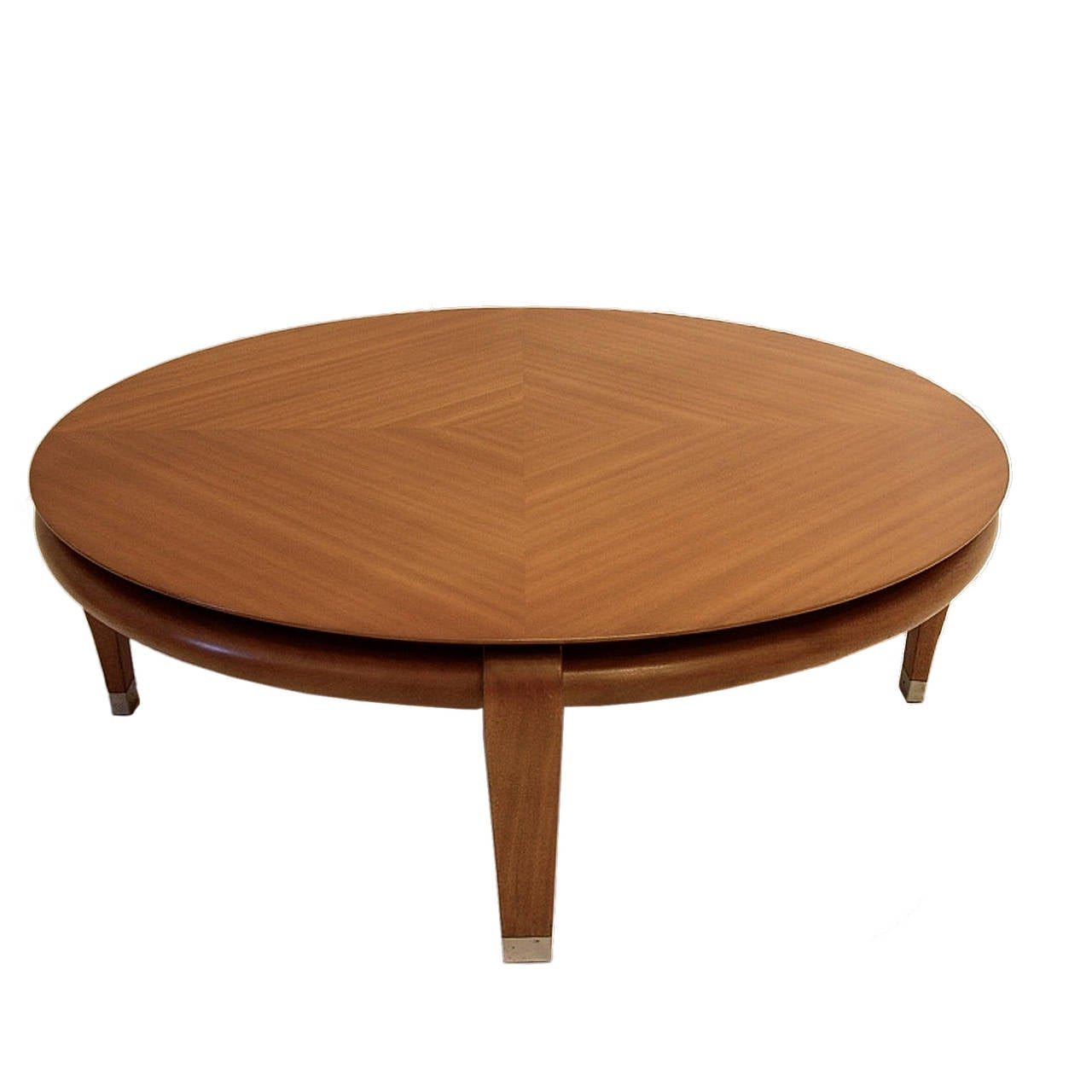 Paul Laszlo for Brown Saltman Round Coffee Table in Mahogany