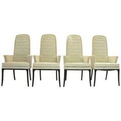 Sleek Set of Four Original Tufted Erwin-Lambeth for Tomlinson Armchairs