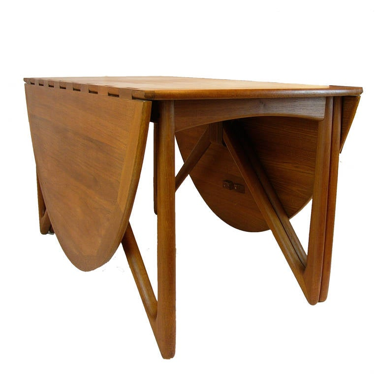 Folding Drop Leaf Dining Table Bruno Mathsson Teak  : kurt6l from sherlockdesigner.com size 768 x 768 jpeg 41kB