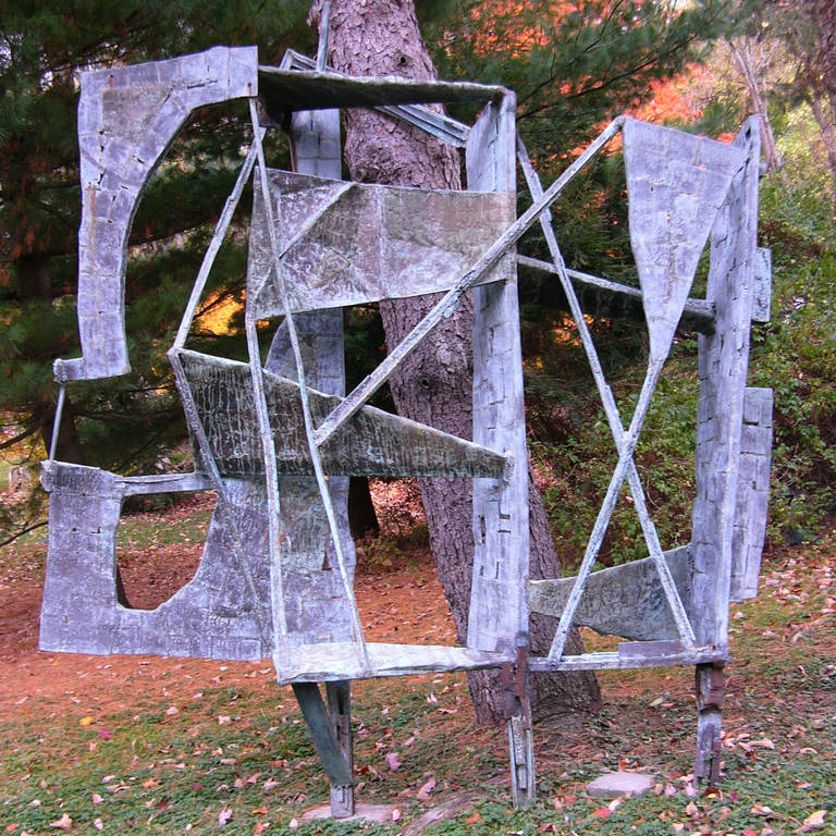 Mid-Century Modern Monumental Outdoor Bronze 10 Ft Sculpture by Abbott Pattison, 1967 For Sale