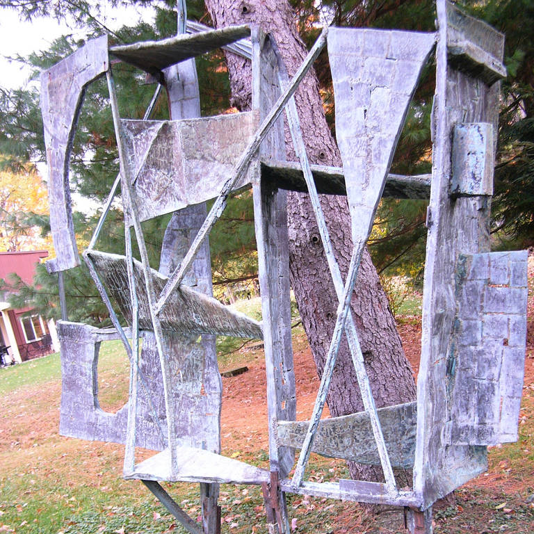 Patinated Monumental Outdoor Bronze 10 Ft Sculpture by Abbott Pattison, 1967 For Sale