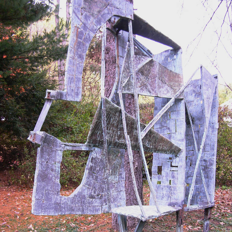 Monumental Outdoor Bronze 10 Ft Sculpture by Abbott Pattison, 1967 In Fair Condition For Sale In Hudson, NY