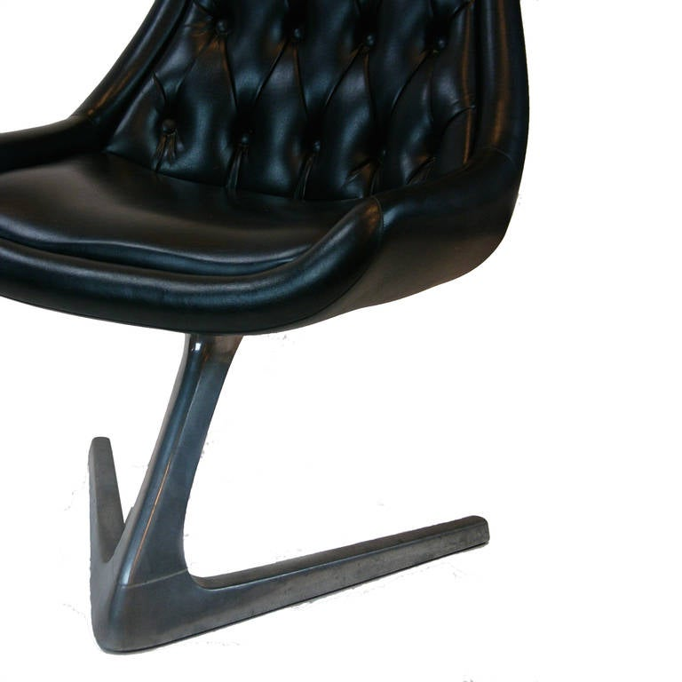 Chromcraft Sculpta Star Trek Unicorn Swivel Chair At 1stdibs