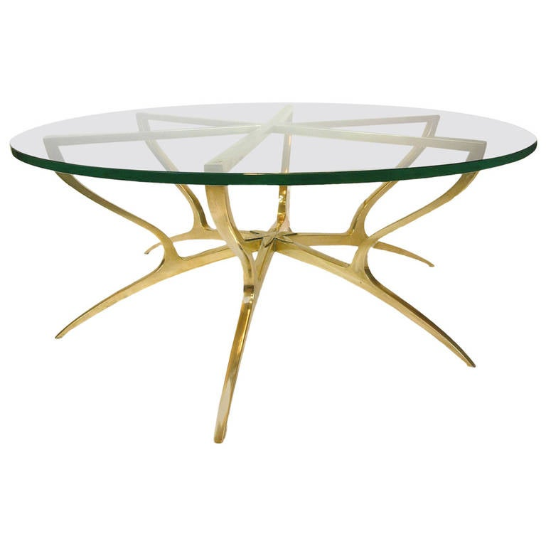 Heavy solid brass with glass italian style coffee table at 1stdibs Tuscan style coffee table
