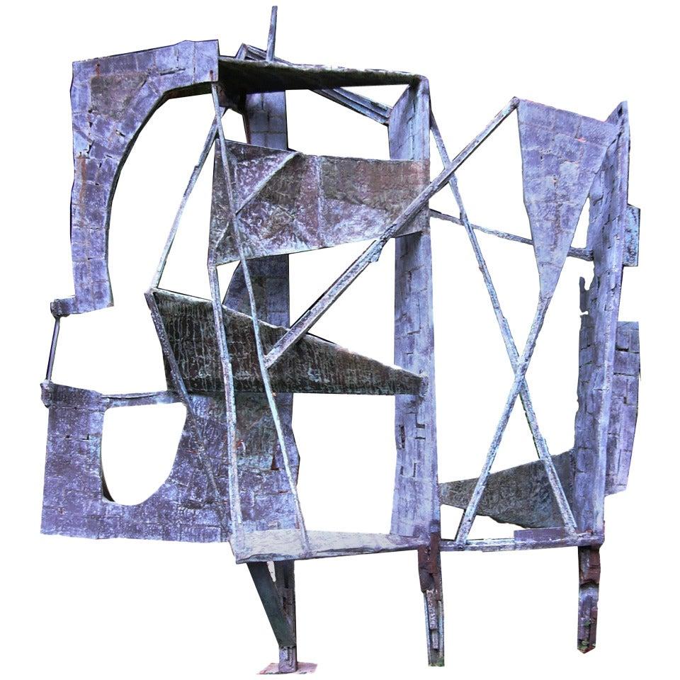 Monumental Outdoor Bronze 10 Ft Sculpture by Abbott Pattison, 1967