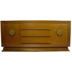 Bleached Mahogany Sideboard or Buffet w. Bodhi Tree attributed to James Mont