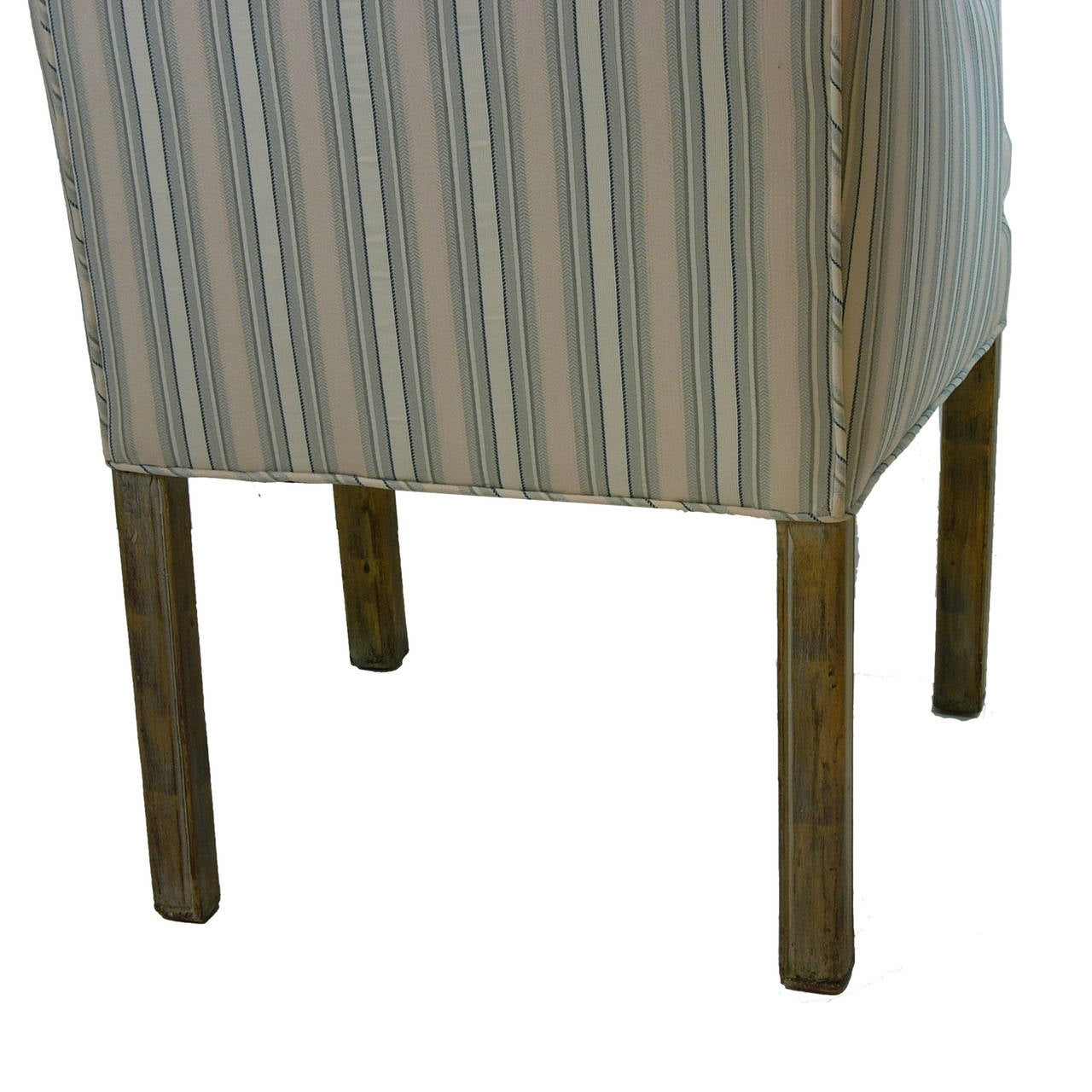 Mid-20th Century Handsome Pair James Mont Tuxedo Occasional Armchairs, Dining or Sitting Chairs For Sale