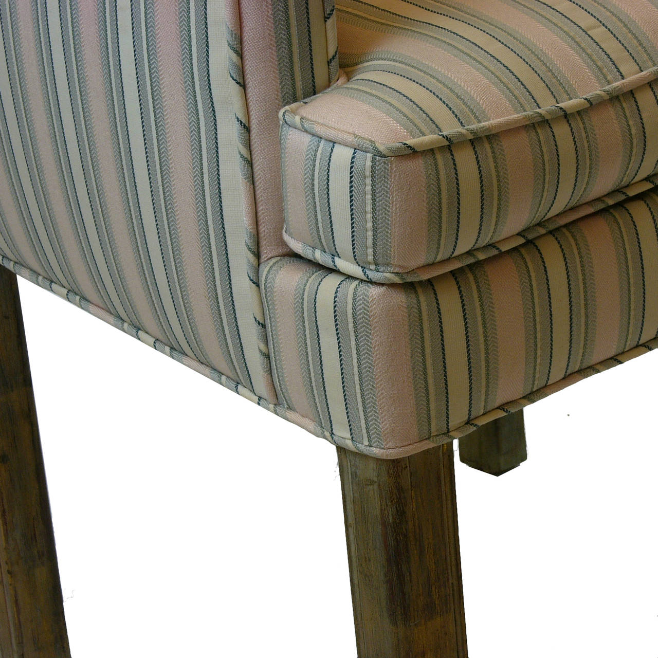 Upholstery Handsome Pair James Mont Tuxedo Occasional Armchairs, Dining or Sitting Chairs For Sale