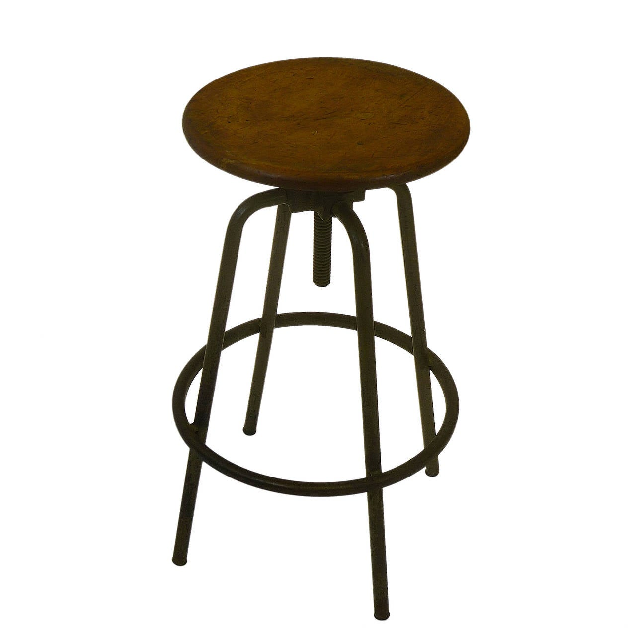 Industrial Adjustable Height Architects Stool For Sale At