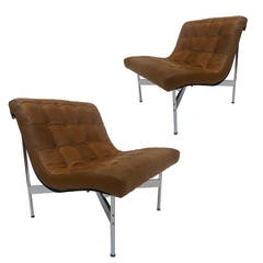 "Pair of ""New York"" Chairs by Katavolos, Littell and Kelley for Laverne Intl"