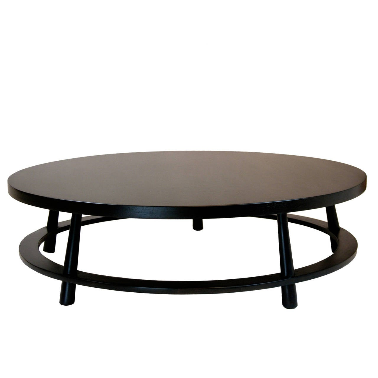 Large T H Robsjohn Gibbings For Widdicomb Round Cocktail Table At 1stdibs