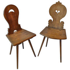 Two French XIX Wood Chairs