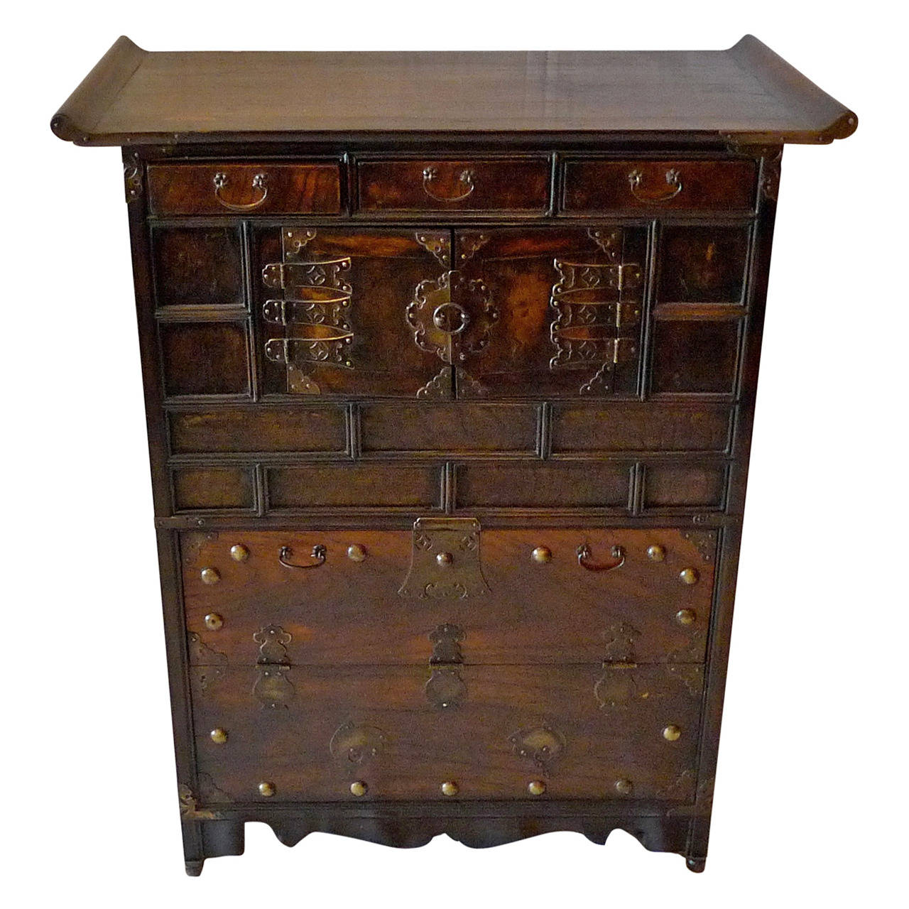 antique cabinets korean xix decorative cabinet lined with printed rice 10630