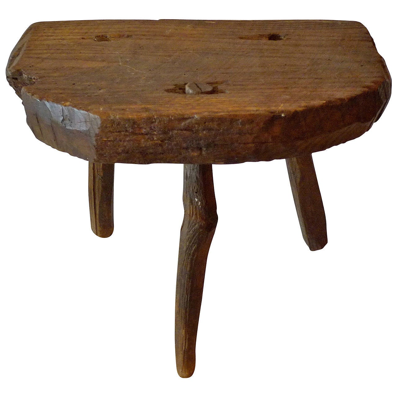 Milking Bench Part - 20: French 19th Century Milking Stool 1