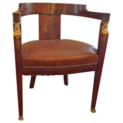 French 19th Century Empire Desk Chair