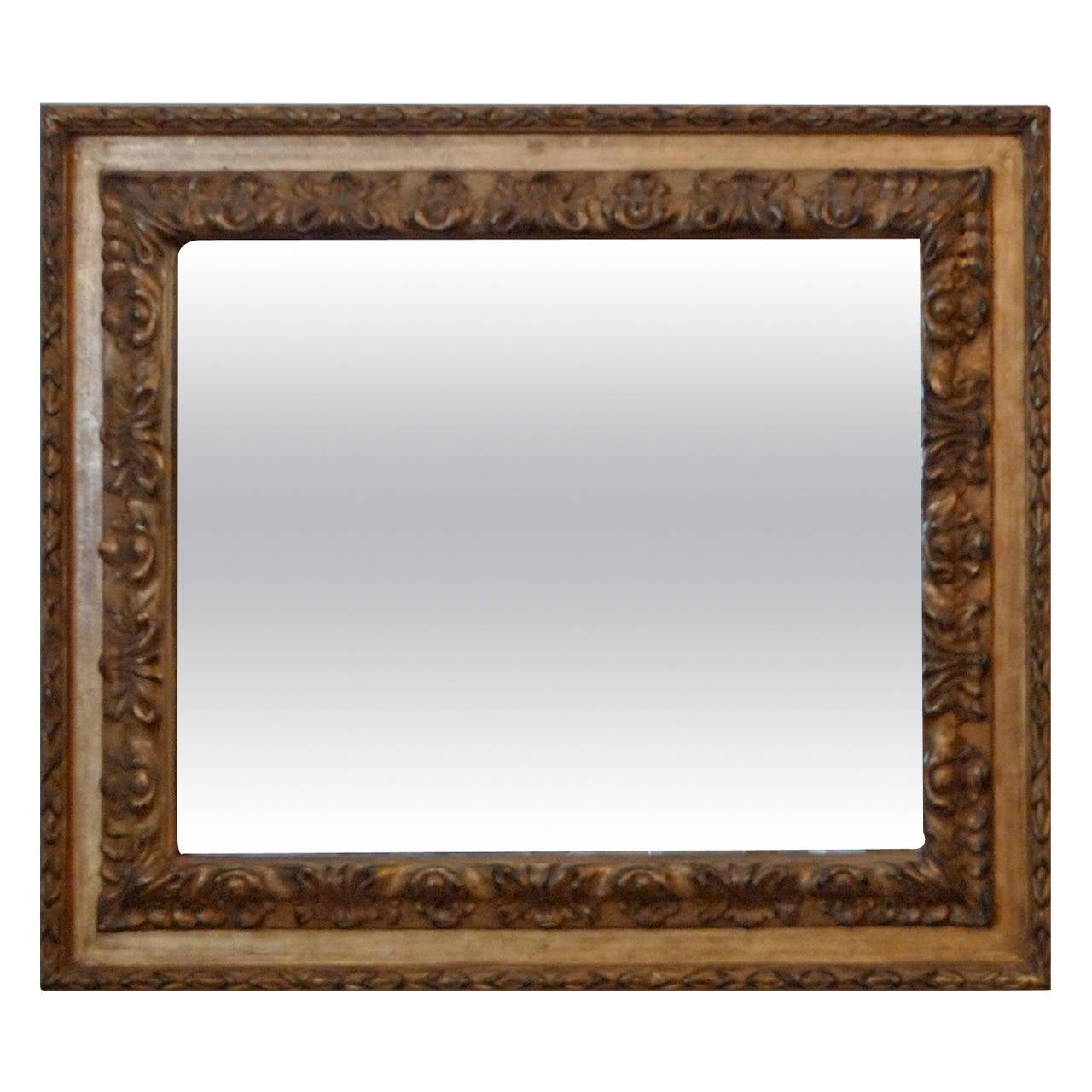French wood carved gold leaf mirror at 1stdibs