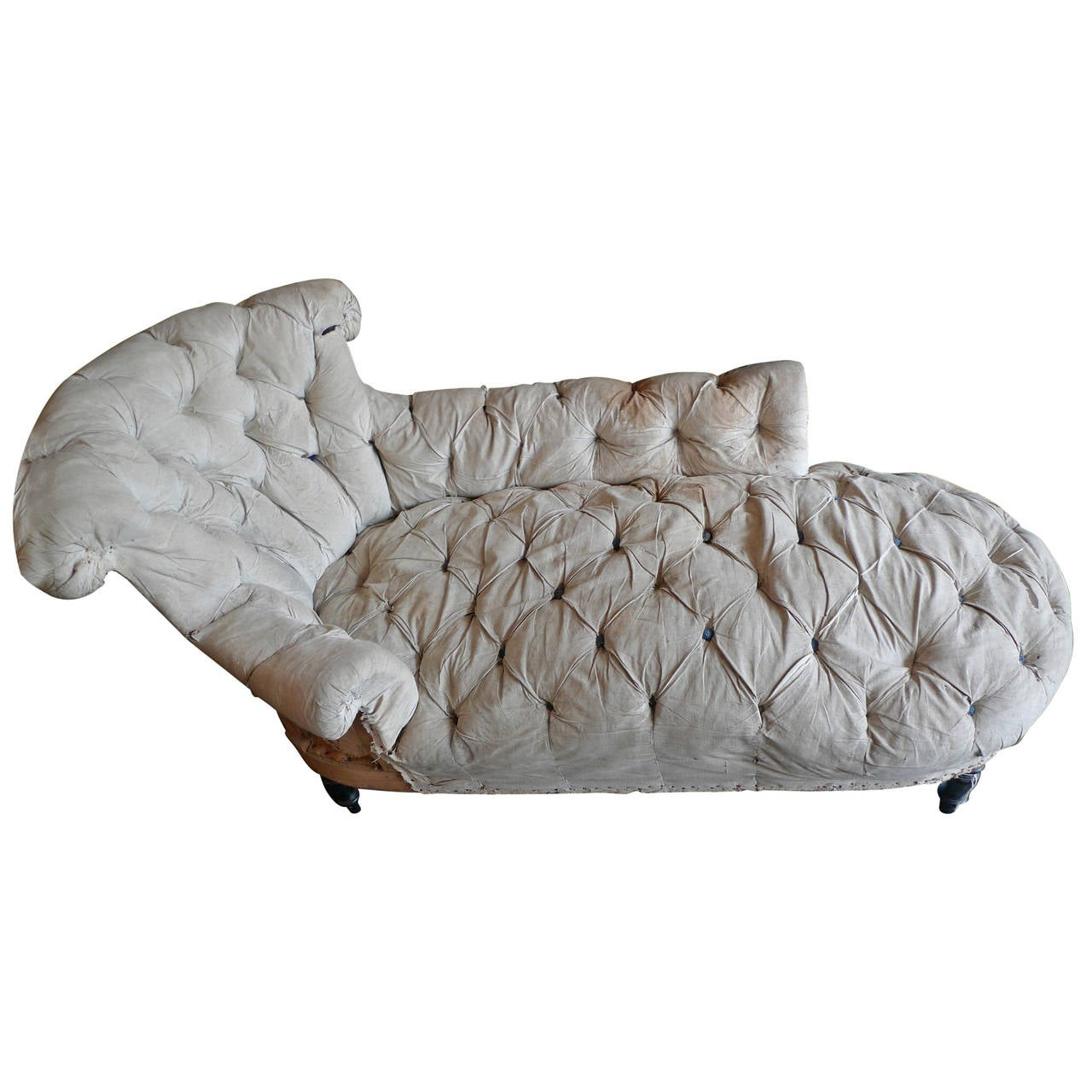 French 19th century napoleon iii chaise longue at 1stdibs for Chaise longue france