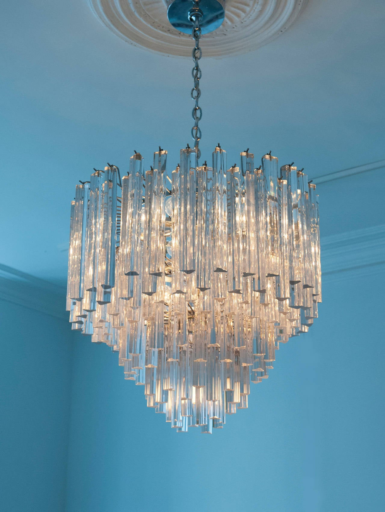 light drum finish revel chrome home briolette itm details large kira chandeliers crystal chandelier modern about