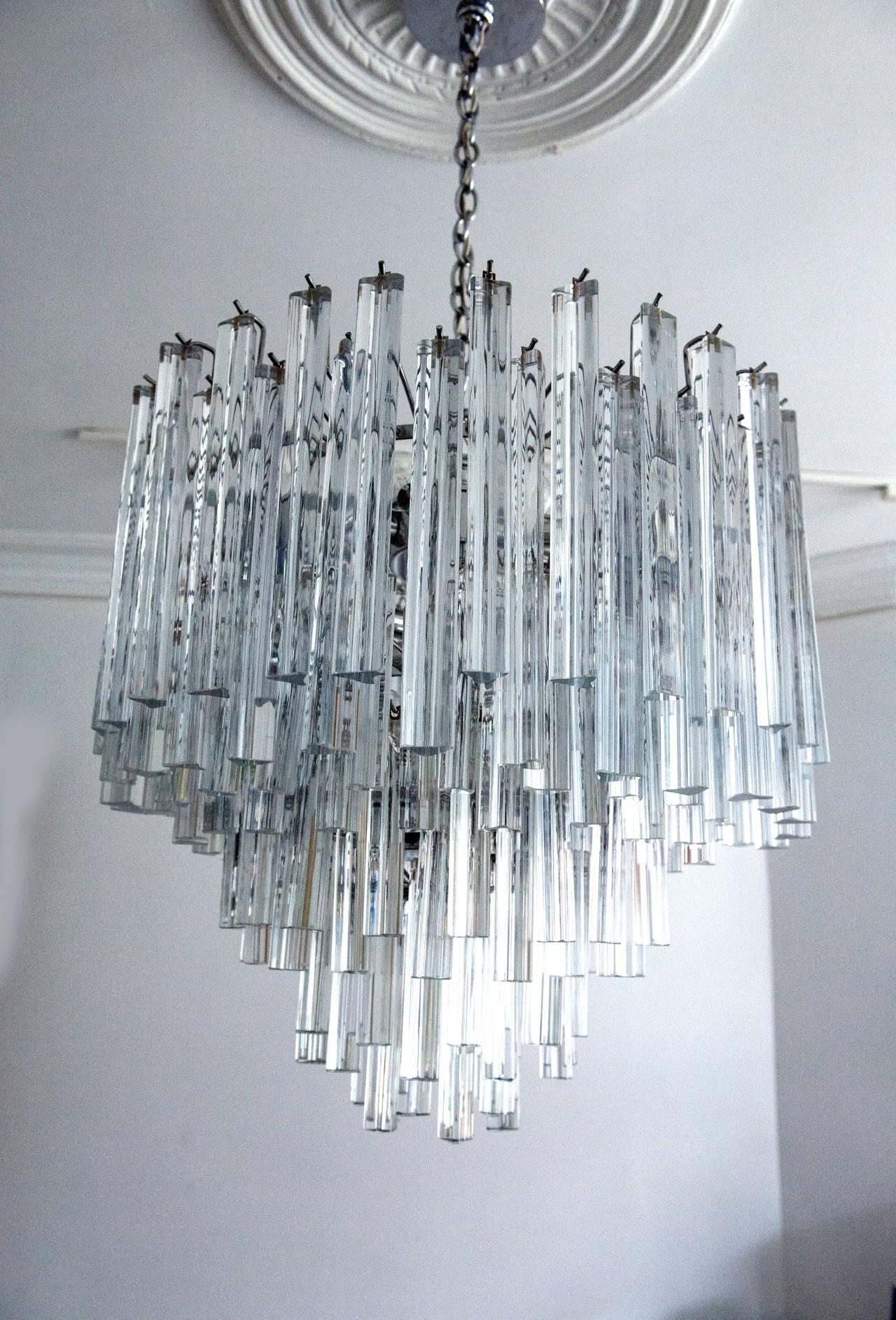 Modern Italian Crystal Venini Chandelier by Camer at 1stdibs