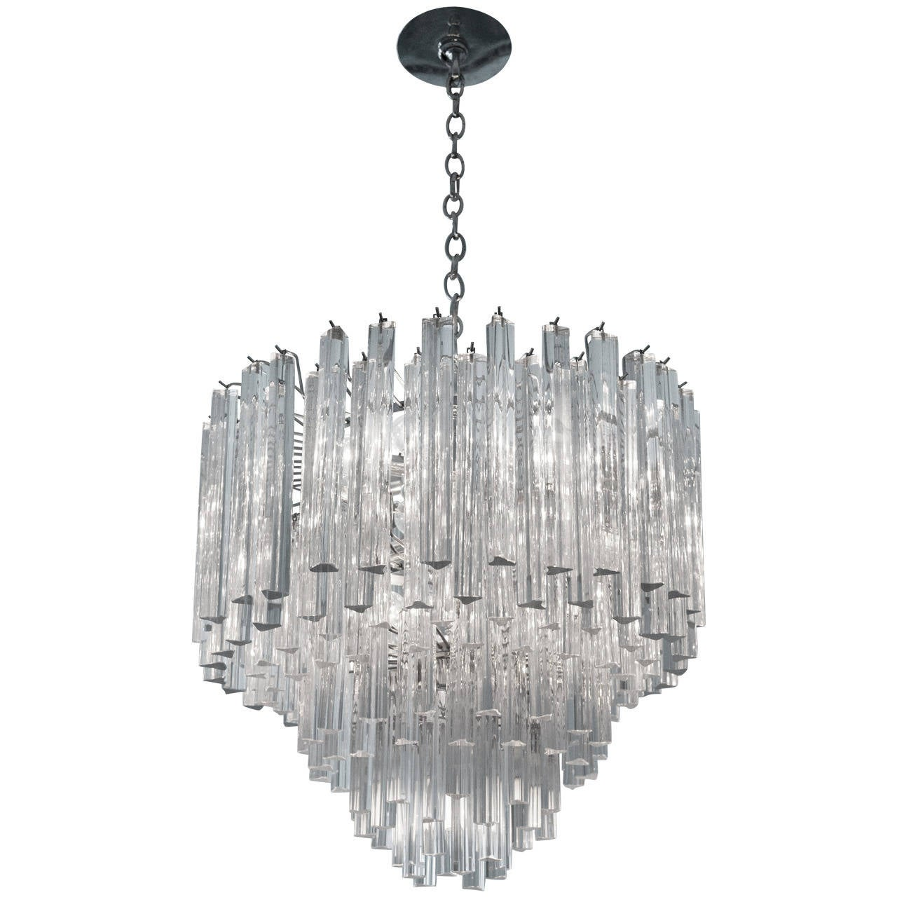 Modern italian crystal venini chandelier by camer at 1stdibs modern italian crystal venini chandelier by camer 1 arubaitofo Images