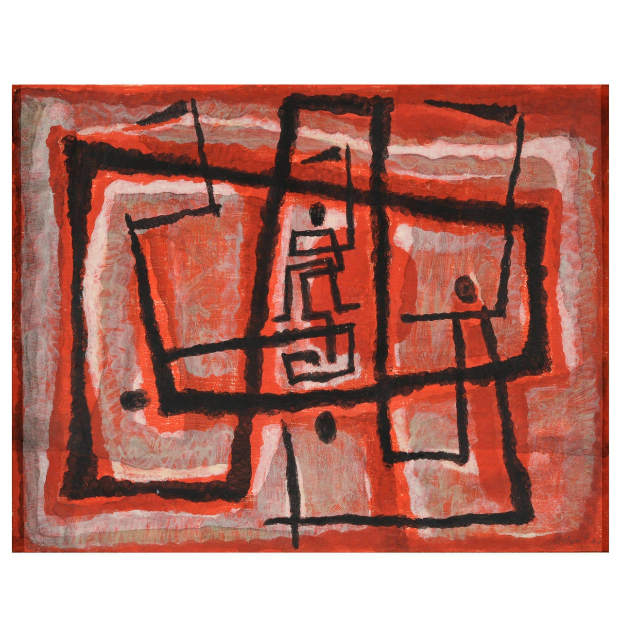 Margaret Balzer Cantieni Abstract Modern Painting, 1946