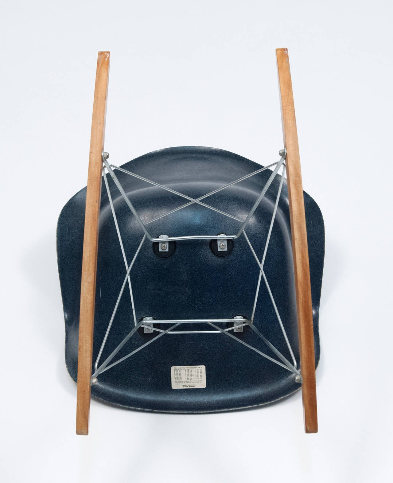 Very Impressive portraiture of Eames Navy Blue Shell Herman Miller Rocking Chair 1962 For Sale at  with #9A6231 color and 1280x1573 pixels