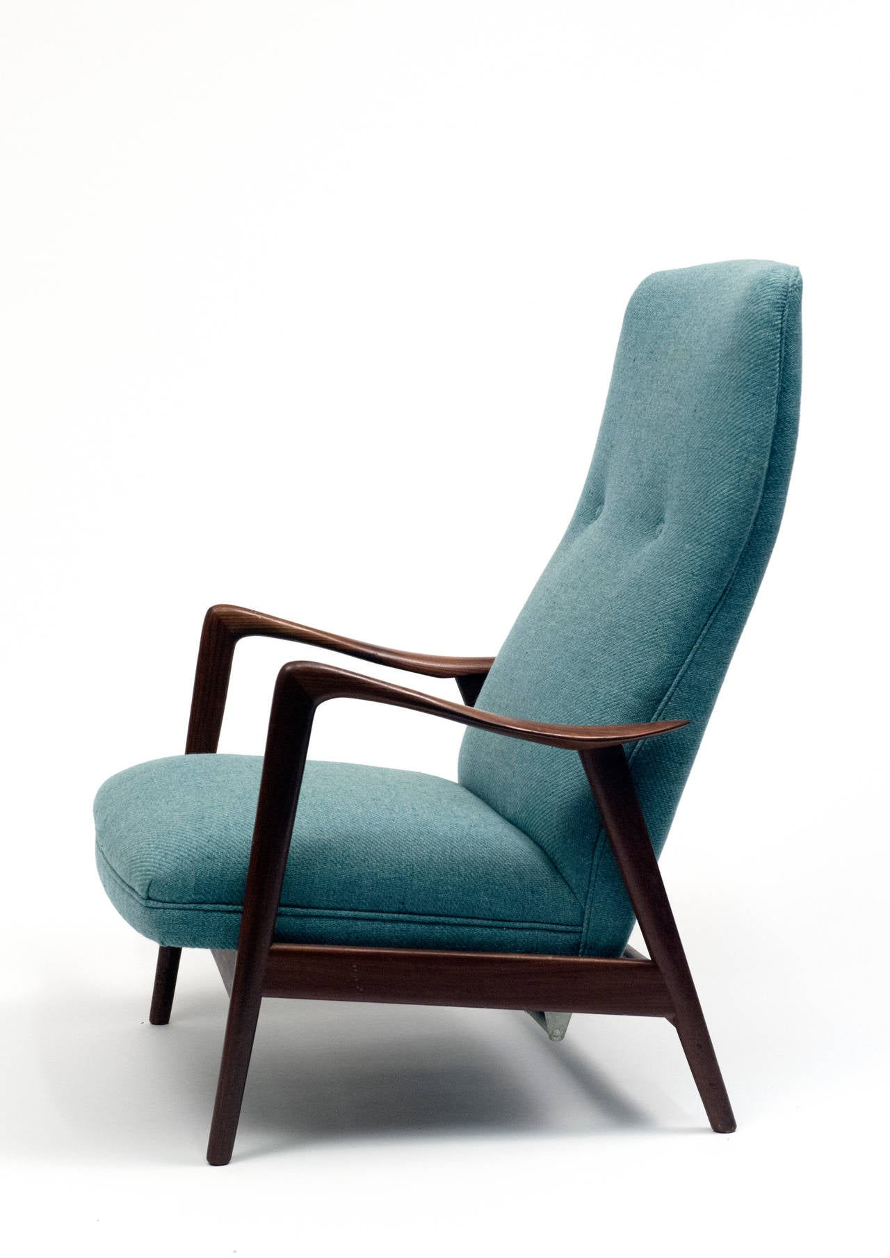 Folke Ohlsson Dux High Back Reclining Lounge Chair at 1stdibs