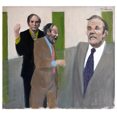 "Joe Shannon Painting, ""Three Business Men,"" Washington D.C., 1972"