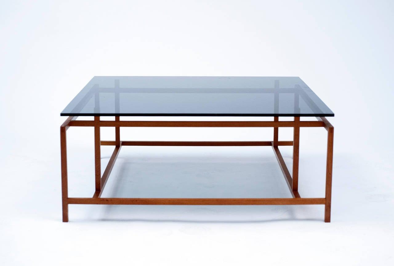 Danish Modern Komfort Teak Glass Coffee Table By Henning Norgaard At 1stdibs