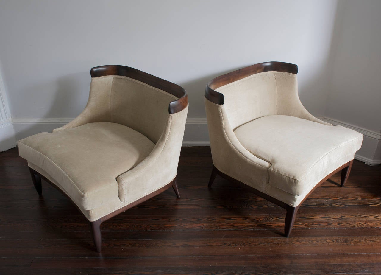 Pair Of Tomlinson Sophisticate Lounge Chairs At 1stdibs