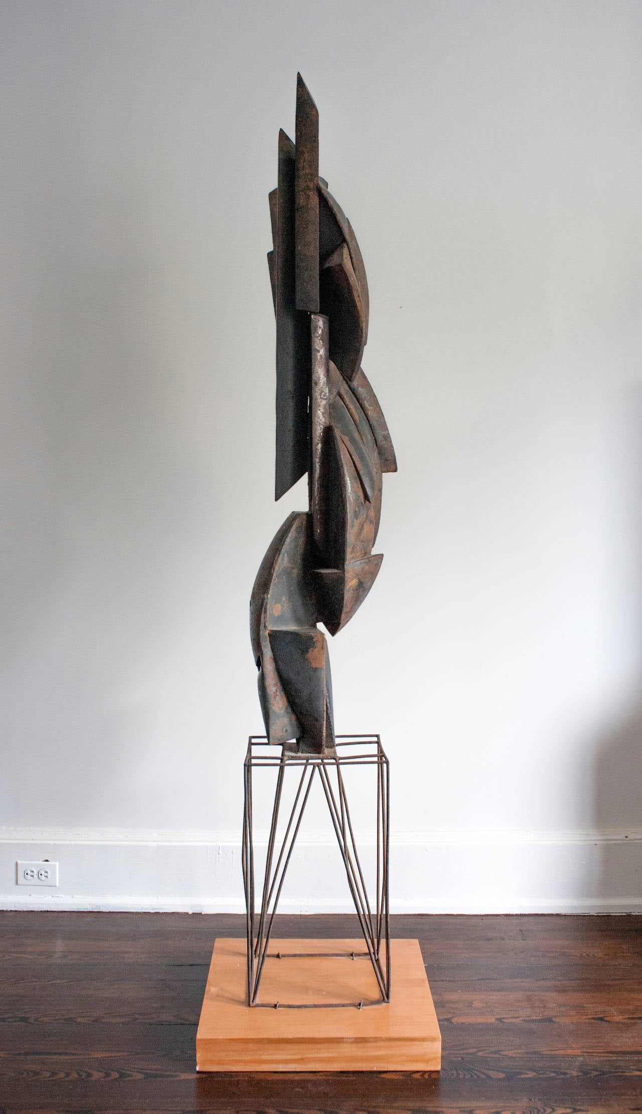 cubist modern abstract metal sculpture  for sale at stdibs - cubist modern abstract metal sculpture