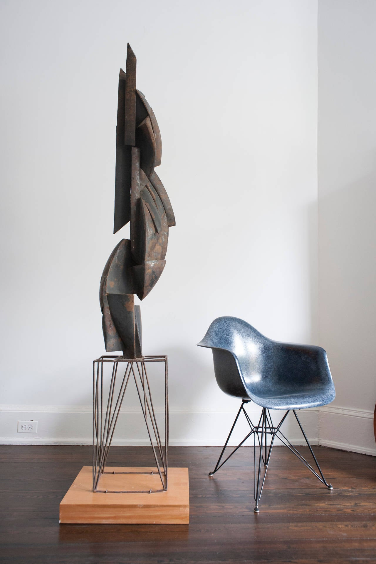 Cubist Modern Abstract Metal Sculpture, 1956 For Sale at ...