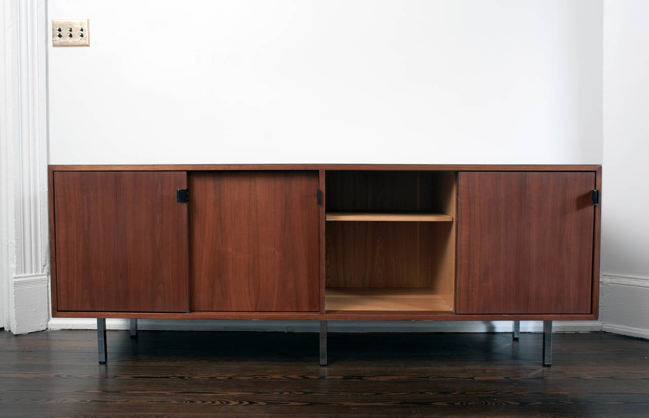 florence knoll credenza walnut sideboard for sale at stdibs - florence knoll credenza walnut sideboard