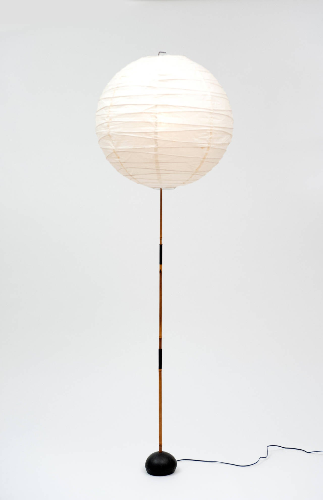 isamu noguchi bamboo and paper lantern floor lamp 1950s With bamboo paper floor lamp
