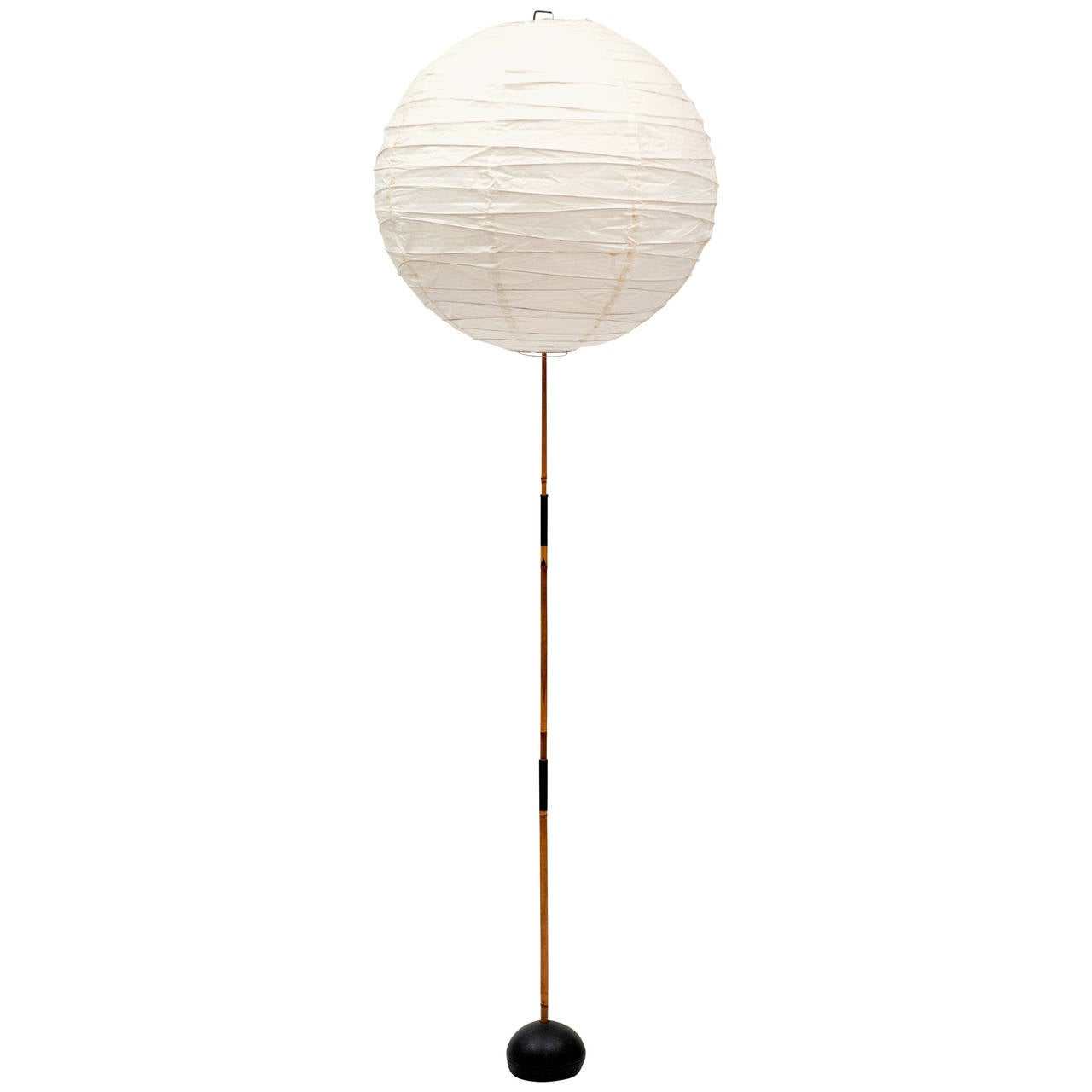 isamu noguchi bamboo and paper lantern floor lamp 1950s. Black Bedroom Furniture Sets. Home Design Ideas