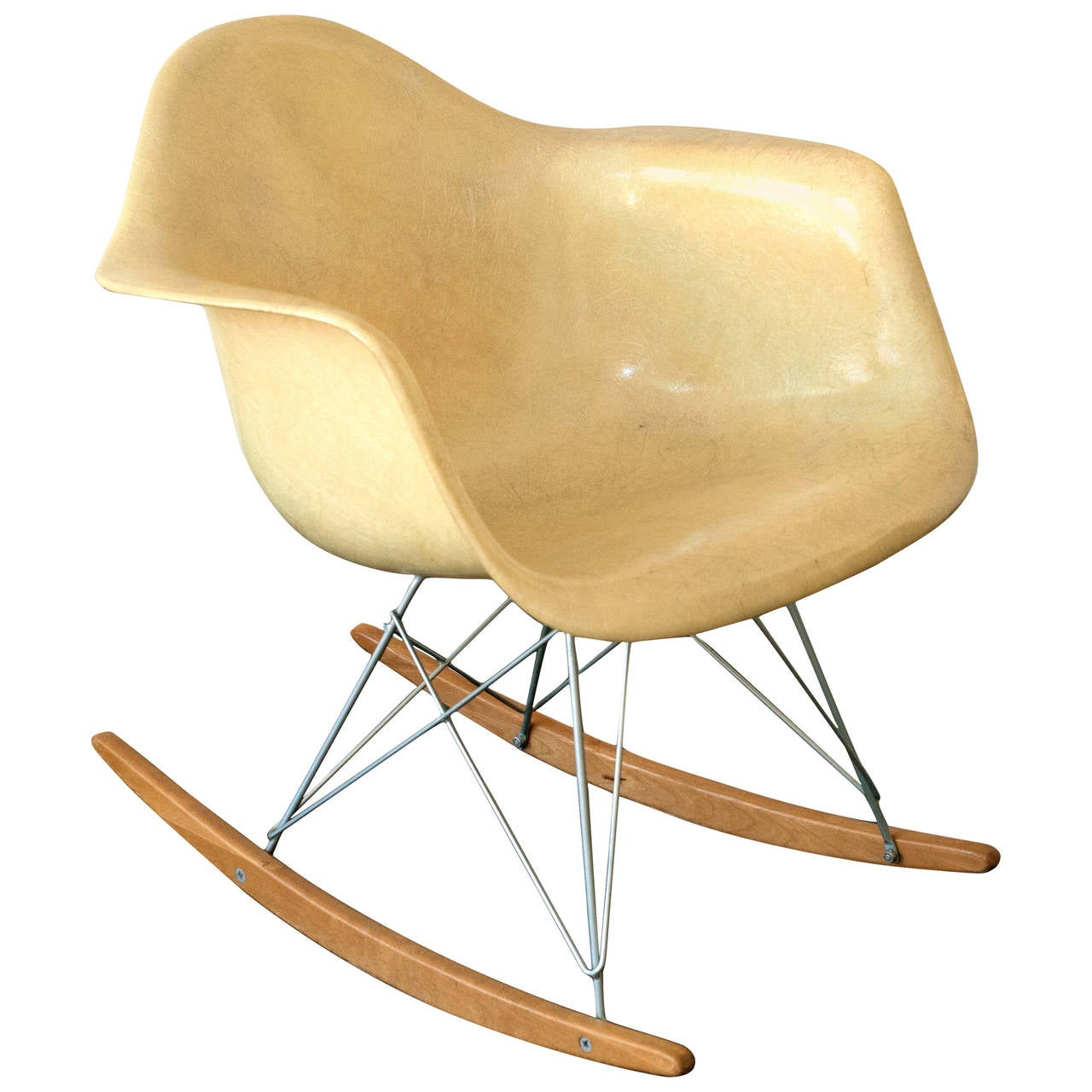 eames herman miller zenith rar rope edge rocking chair at 1stdibs. Black Bedroom Furniture Sets. Home Design Ideas