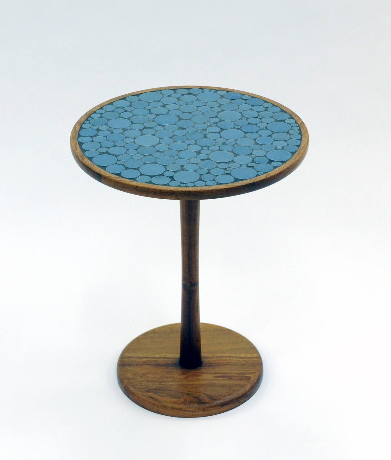 Blue Ceramic Tile Top Side Table By Gordon And Jane Martz 2