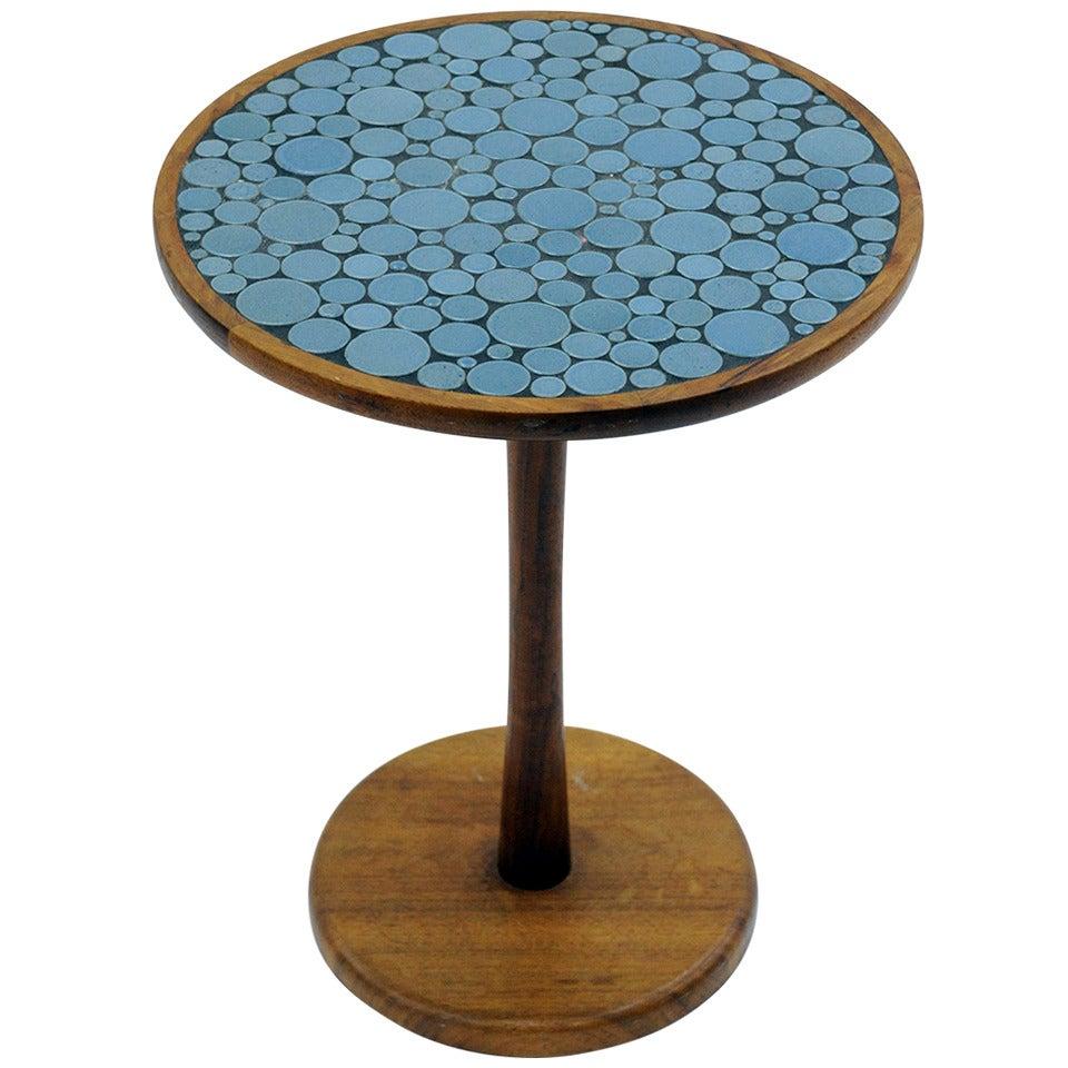Gordon and jane martz blue ceramic pedestal table at 1stdibs - Ceramic pedestal table base ...
