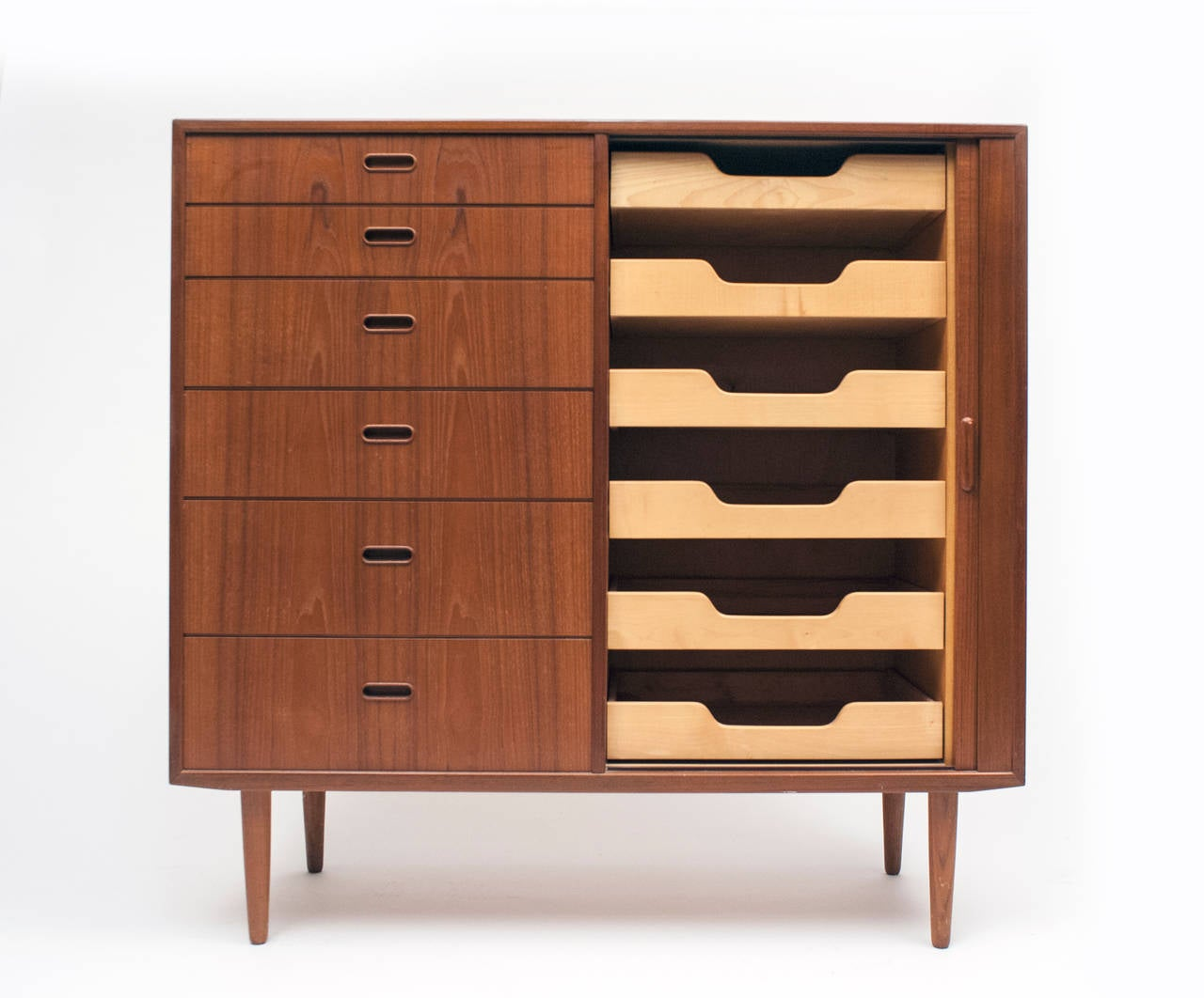 Danish Modern Falster Tall Chest of Drawers Cabinet at 1stdibs
